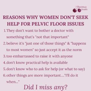 reasons women don't seek help for bladder weakness