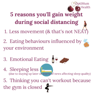 5 reasons you'll gain weight during social distancing
