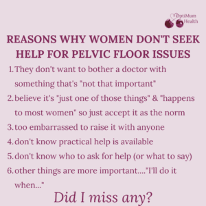 reasons women don't seek help for bladder weakness